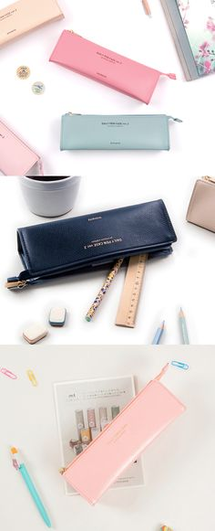 This chic Daily Pencil Case looks great, and fits all sorts of purposes! I can take it to work, or school, and it lets me store everything I'll need for given situation. I can store pens and pencils, but It's also good for storing office supplies or make ups!