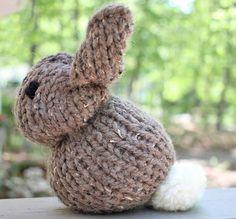 One Square Stuffed Bunny knitting pattern