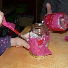 Mama Pea Pod: {Valentine Tea Light Votive Holders}