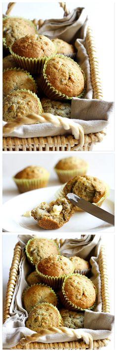 Banana Nut Muffins recipe, simply the best breakfast muffin EVER | rasamalaysia.com