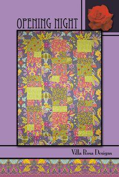 Opening Night quilt pattern by Pat Fryer, Villa Rosa Designs
