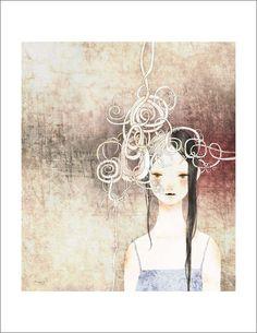 Yoko Tanji - Print - KrKr Girl - Nucleus アートギャラリー とショップ