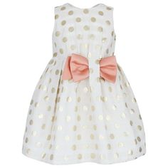 Hucklebones - Gold Spotted Dress with Bow
