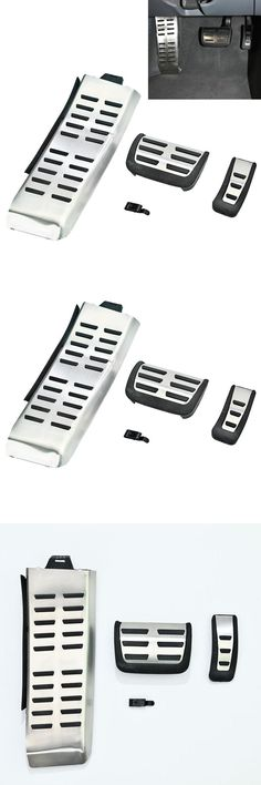 [Visit to Buy] For 05-10 Audi A6 C6 S6 RS6 Sport Auto Transmisson Fuel + Brake + Foot Rest Pedals Kit Aluminium Surface #Advertisement