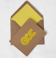 yellow peeps card!