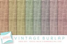 vintage burlap digital paper by Dodi Doodles on @creativemarket
