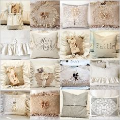 lovely pillow creations from Lori at Katies Rose Cottage