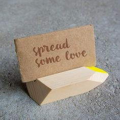 Love is in the air with our placeholders. Wood Cut, Place Cards, Place Card Holders, Tableware, Handmade, Dinnerware, Dishes, Craft, Arm Work