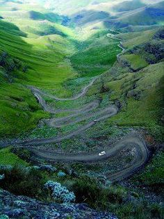 Spectacular Sani Pass into the tiny Kingdom of Lesotho, South Africa