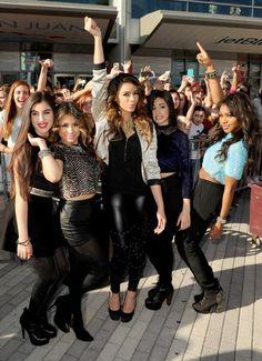 Fifth Harmony-Lauren Michelle Jauregui, Allyson (Ally) Brooke Hernandez, Dinah Jane Hansen, Karla Camila Cabello, and Normani Kordei Hamilton