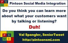 #pinterest #pintoonsmi #SocialMediaIntegration Selling is a listener's game. pintoonsmi.com  seniortweetblog.com