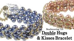Double Hugs & Kisses Bead Bracelet - Free Video Tutorial by Potomac Bead Company featured in Bead-Patterns.com Newsletter