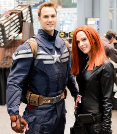 Captain America and Black Widow Captain America Costume, Black Widow Natasha, Playing Dress Up, Movie Tv, Cool Hairstyles, Cool Outfits, Awesome, Amazing, Punk