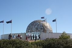 HMS Sydney Memorial, Geraldton, Australia. The dome is made of seagulls -one for each soul lost in the WWII sinking.