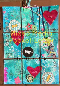 Mixed Media Pocket Letter by Sherbert Ink
