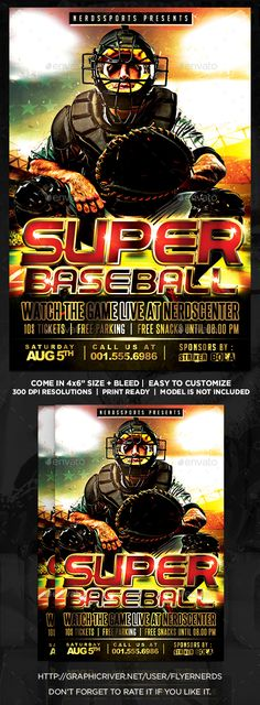 Super Football Sports Flyer  Super Football Graphics And Flyer