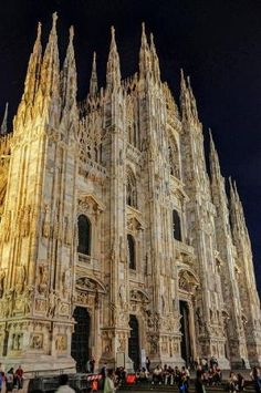 Duomo di Milano - Milan Cathedral at Night - Milan Italy. Awesome being on the roof top, right, @Rebecca Dezuanni Hanna?? by cristina