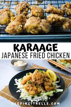 Do you want the crispiest fried chicken around? Then you've got to try this quick and easy chicken karaage recipe. Tender, juicy bite sized pieces of goodness perfect for weeknight meals. Asian Chicken Recipes, Asian Recipes, Ethnic Recipes, Japanese Recipes, Yummy Recipes, Japanese Fried Chicken, Crispy Fried Chicken, Loco Food, Chicken Karaage Recipe