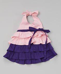 Pink & Grape Tiered Halter Top - Infant & Toddler | zulily