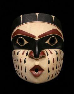 Southeast Wind Mask ~  Artist David Boxley  Tsimshian  Alder