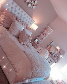 46 Cute Pink Bedroom Design Ideas is part of Room decor - Girls bedroom designs can really show off who your daughter is and who she wants to be It a chance […] Blush Pink Bedroom, Pink Bedroom Design, Pink Bedroom Decor, Pink Bedrooms, Gold Bedroom, Girl Bedroom Designs, Pink Room, Teen Girl Bedrooms, Bedroom Sets