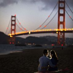 Romantic San Francisco engagement session with majestic Golden Gate Bridge and Palace of Fine Arts.