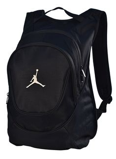8303379ad6ad Amazon.com  Jordan Nike Air Jumpman Backpack Book Bag-Black  Sports    Outdoors