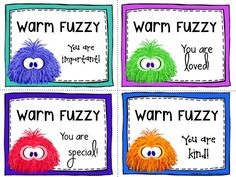 Remind students they are important with Warm Fuzzies! $