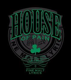 HOUSE OF PAIN FINE MALT LYRICS MENS WHITE T SHIRT EVERLAST JUMP AROUND HIP HOP