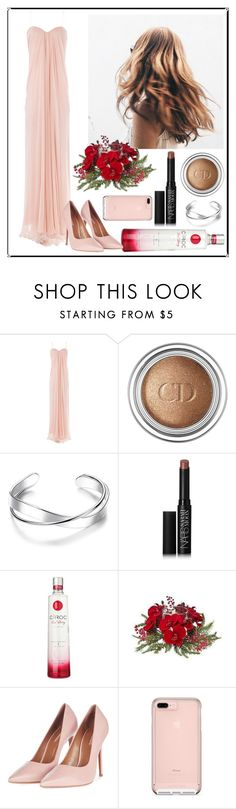 """""""Party on New Year   ~13~"""" by katya01 ❤ liked on Polyvore featuring Alexander McQueen, Christian Dior, NARS Cosmetics, Nearly Natural, Topshop, Pink, Beauty, party and newyear"""