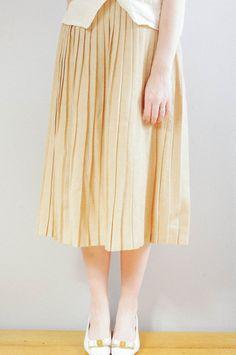 Vintage 1950s Pleated Wool Skirt  // City High by DeerfieldVintage