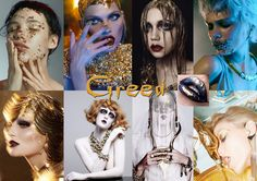 Greed - An abundance of gold, diamonds and decadence. Use gold leaf or liquid gold.