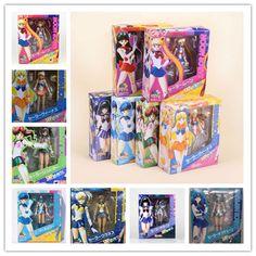 PVC Sailor Moon Sailor Mercury Sailor Venus sailor mars Action figure toys dolls