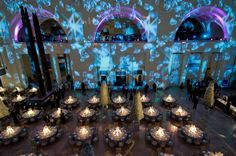 For the Field Museum's diamond-themed gala in October, Frost used 40 digital projectors to show a video clip of tumbling diamonds on an enti...