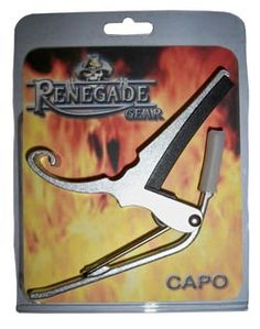 The Colonial Leather Renegade Trigger Capo is solid yet lightweight spring load capo suitable for all types of guitars.