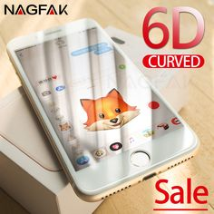 NAGFAK 6D Curved Tempered Glass For iPhone 7 8 Plus 6 6s Screen Protector Full Cover For iPhone 8 7 6S Plus Toughened Glass Film-in Screen Protectors from Cellphones & Telecommunications on Aliexpress.com | Alibaba Group Cheap Phones, Phone Screen Protector, Glass Film, 6s Plus, Alibaba Group, Iphone 8, Cover, Blankets