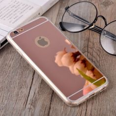 Luxury Plating Mirror Soft TPU Silicon Case For iphone 7 6 6S / 7 6 6S Plus