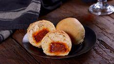 Bollos preñaos - Rocío Arroyo - Receta - Canal Cocina Chorizo, Tostadas, Scones, Hamburger, Muffin, Brunch, Bread, Breakfast, Food