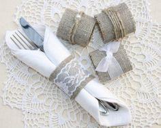 SET OF 100 Burlap Wedding Napkin Rings Wedding napkin rings