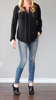 Sequin pocket long sleeve tee