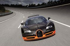 Bugatti's new 1200 bhp Veyron Super Sport is now officially the world's fastest production car, with an official two-way run of 431 km/h, eclipsing the former record of km/h mph) set by SSC's 1200 bhp Ultimate Aero TT. Ford Gt, Ford Mustang, 2011 Bugatti Veyron, Bugatti Cars, Lamborghini Cars, Ferrari 458, Civic Coupe, 911 Turbo S, Jeep Renegade