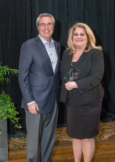 Megan Fowler and Dave North, President & CEO of Sedgwick