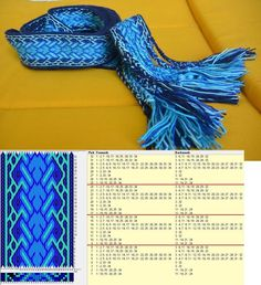 34 cards, 4 colors, repeats every 8 rows, GTT ༺❁ Inkle Weaving Patterns, Loom Weaving, Loom Patterns, Weaving Art, Inkle Loom, Card Weaving, Peg Loom, Willow Weaving, Loom Bands