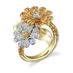 Crown Daisy Ring, Yellow Sapphire. Asprey.