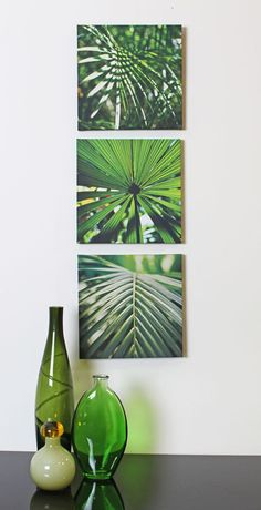 'Inject a touch of the tropics to your home with leaf prints such as palm and swiss cheese plant (monstera deliciosa),' says Furniture Choice's interior style advisor Rebecca Snowden. 'Opt for tropical wallpaper to create a dramatic impact or a single leaf framed for a more subtle look.'  Tropical Leaves Set Of 3 Canvas, ARTHOUSE