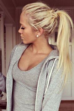 Blonde Ponytail Long Hair hair long hair hair ideas hairdos long hairstyles - All For Hair Cutes Cute Ponytail Hairstyles, Blonde Ponytail, Cute Ponytails, Frontal Hairstyles, Pretty Hairstyles, Blonde Hair, Messy Ponytail, Hairstyles Men, Quick Hairstyles