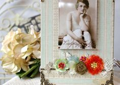 Handmade Photo Frame, Spring style, floral, decorative picture frame assemblage, for your photo. $48.00, via Etsy.
