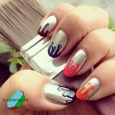 Leave a the brush to drip on the nail and then drag the brush gently from the spot towards the top of the nail.