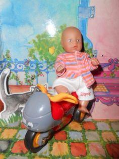 Original BABY born® miniworld  **  1 Püppchen BABY born® mini mit Bobby bike