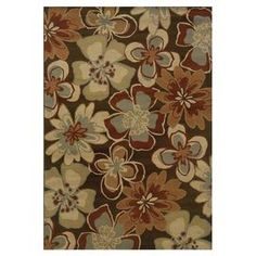 Jackson Floral Brown & Gold Area Rug
